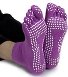 Crown-Sporting-Goods-Yoga-Toe-Socks-with-Slip-Free-Silicone-Texturizing-Beads-0