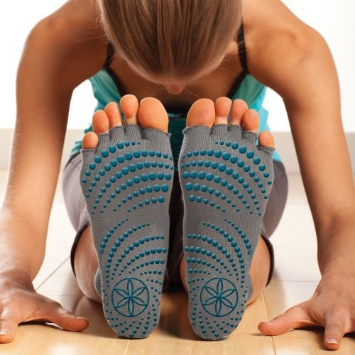 Gaiam-Grippy-Toeless-Yoga-Socks-0