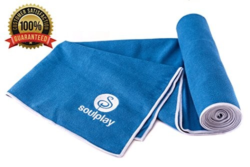 HOLIDAY-SALE-1-Rated-Yoga-Towel-100-Microfiber-Skidless-Non-Slip-Quick-Dry-Long-Lasting-24-X-72-SoulPlay-100-Lifetime-Guarantee-Best-Bikram-Towel-Exercise-Fitness-Pilates-Hot-Yoga-Travel-0