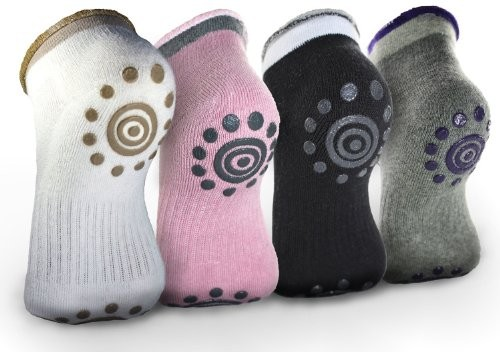 Monkeybrother-4pairs-Non-Slip-Skid-Yoga-Pilates-Socks-with-Grips-Cotton-for-Women-0