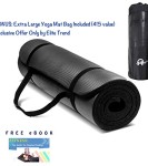 OM-Exercise-Yoga-Mat-12-Inch-Extra-Thick-Extra-Long-72-Inch-High-Density-Foam-with-Yoga-Mat-Bag-and-Sling-by-Elite-Trend-Free-63-Pages-eBook-Fitness-The-Guide-to-Staying-Healthy-100-Satisfaction-Guara-0
