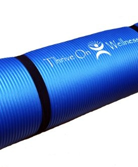 Thrive-on-Wellness-Thick-Yoga-Mat-Best-Comfort-for-SpineJoints-with-Strap-for-travel-72-Extra-long-24-Wide-12-thick-BEST-Exercise-Mat-for-Pilates-Yoga-P90x-AND-Floor-Exercises-Non-slip-Non-toxic-Top-Q-0