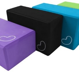 Yoga-Block-1-or-2-pack-4-in-x-6-in-x-9-in-Larger-Size-High-Quality-4-colors-by-Bean-Products-0