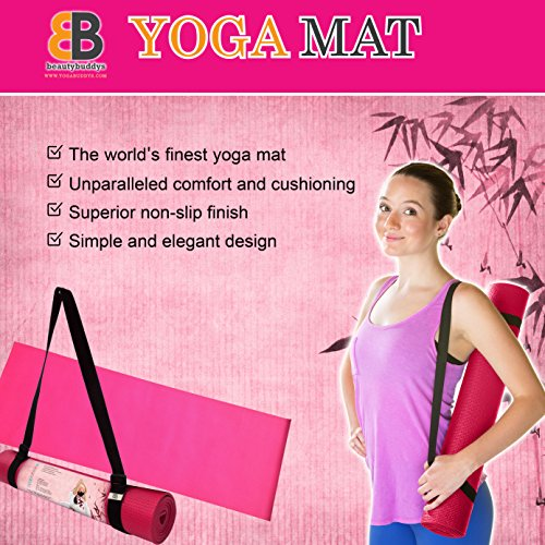 Yoga Mat With Carry Strap Wholesomeone Natural Health