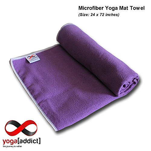 Yogaaddict Yoga Mat Towel And Hand Towel Combo Set: Bikram Yoga Mats