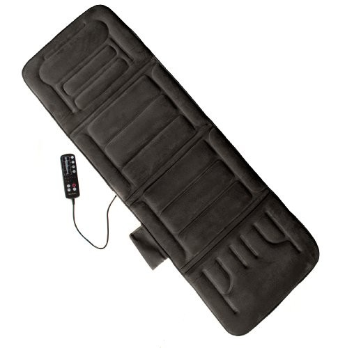 Comfort-Products-60-2907P04-10-Motor-Massage-Plush-Mat-with-Heat-Black-0