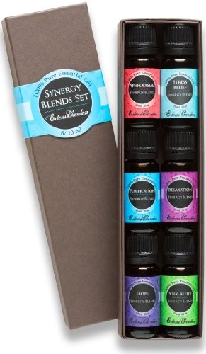 Synergy-Blends-Aphrodisiac-Stress-Relief-Purification-Relaxation-Hope-and-Stay-Alert-Top-6-Basic-Therapeutic-Grade-Aromatherapy-Sampler-Pack-100-Pure-Therapeutic-Grade-Essential-Oil-Gift-Set-610-ml-0