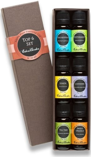 Top-6-100-Pure-Therapeutic-Grade-Basic-Aromatherapy-Sampler-Essential-Oil-Gift-Set-610-ml-Eucalyptus-Lavender-Lemon-Sweet-Orange-Peppermint-Tea-Tree-0