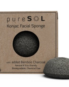 Konjac-Sponge-Activated-Charcoal-Facial-Sponge-100-Natural-Sponge-Eco-Friendly-Gentle-Exfoliating-Sponge-Deep-Cleansing-Improved-Skin-Texture-Konjac-Facial-Cleansing-Sponge-Natural-Beauty-Products-Fre-0