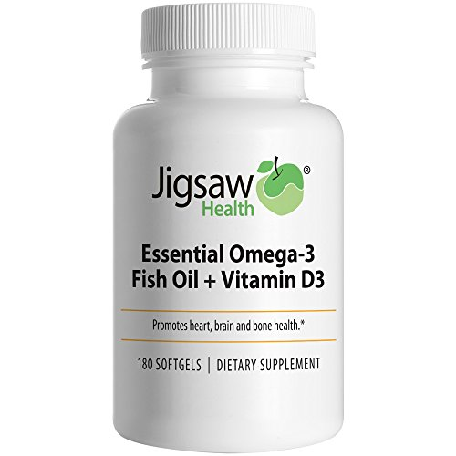 Jigsaw health essential omega 3 fish oil vitamin d3 epa for Epa dha fish oil