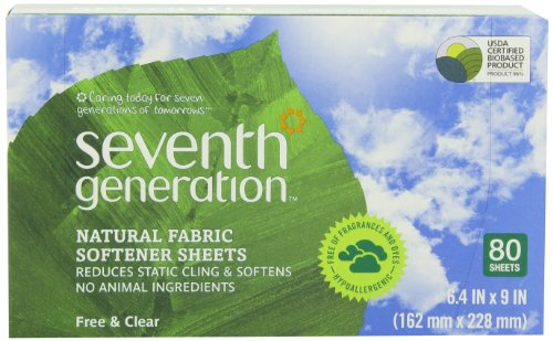 Seventh-Generation-Fabric-Softener-Sheets-Free-and-Clear-80-Count-Pack-of-2-Packaging-May-Vary-0
