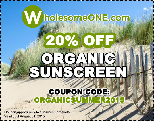 20% Off Organic Sunscreen Coupon