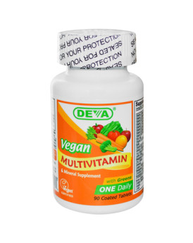 Deva Vegan Multivitamin and Mineral Supplement - 90 Coated Tablets