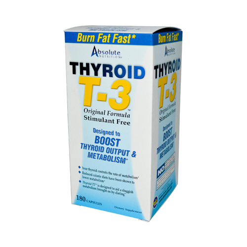 Absolute Nutrition Thyroid T-3 - 180 Capsules