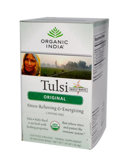 Organic India Tulsi Tea Original - 18 Tea Bags - Case of 6