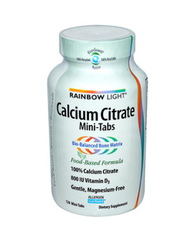 Rainbow Light 100% Calcium Citrate Mini-Tabs - 120 Mini-Tabs