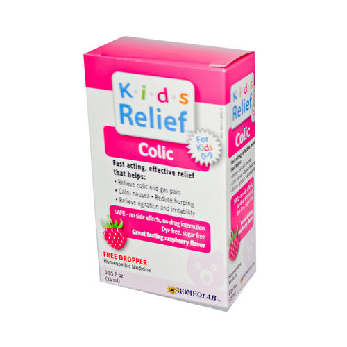 Homeolab USA Kids 0-9 Colic Liquid Raspberry - 0.25 fl oz