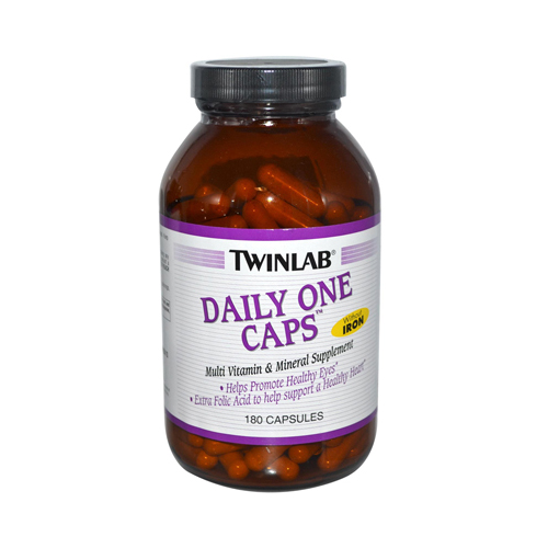Twinlab Daily One Caps without Iron - 180 Capsules