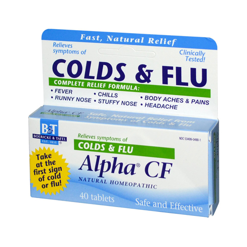 Boericke and Tafel Alpha CF - 40 Tablets