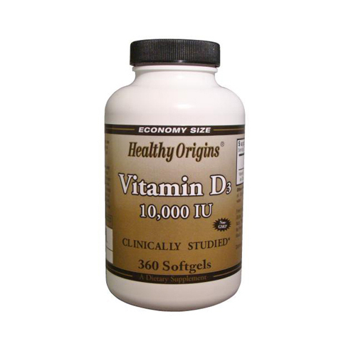 Healthy Origins Vitamin D3 - 10000 IU - 360 Softgels