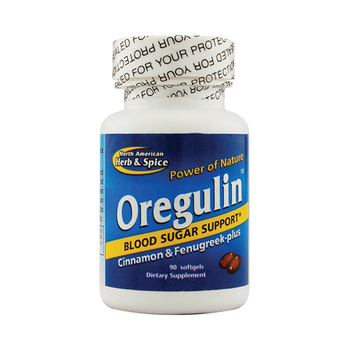 North American Herb and Spice Oregulin Blood Sugar Support - 90 Capsules