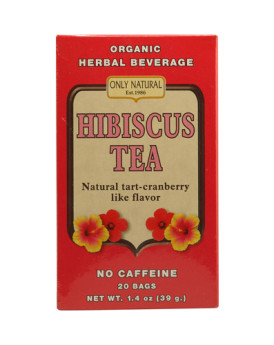 Only Natural Organic Hibiscus Tea - 20 Bags