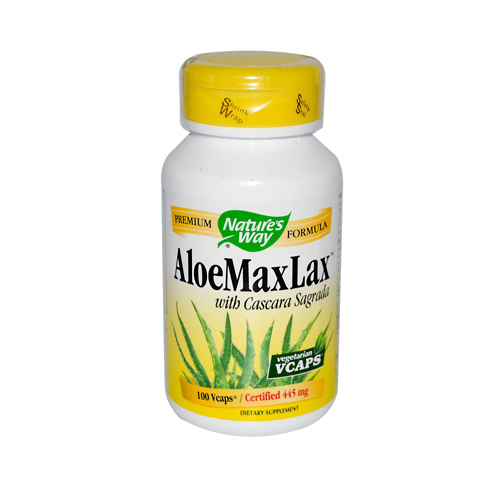 Nature's Way AloeMaxLax with Cascara Sagrada - 100 Vegetarian Capsules