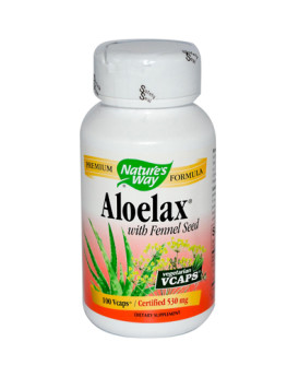 Nature's Way Aloelax with Fennel Seed - 100 Vegetarian Capsules