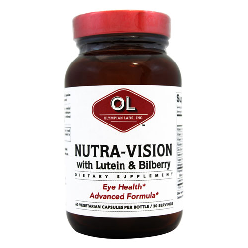 Olympian Labs Nutra-Vision - Lutein and Bilberry - 60 Vegetarian capsules
