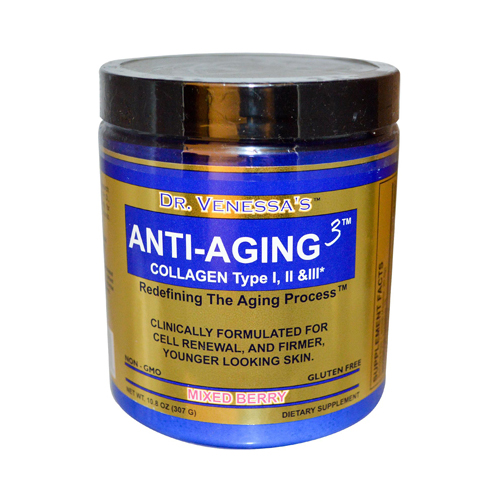 Dr. Venessa's Anti-Aging 3 Collagen Type I and II Mixed Berry - 300 g
