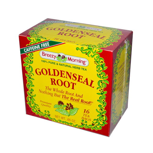 Breezy Morning Teas Goldenseal Root Caffeine Free - 16 Bags