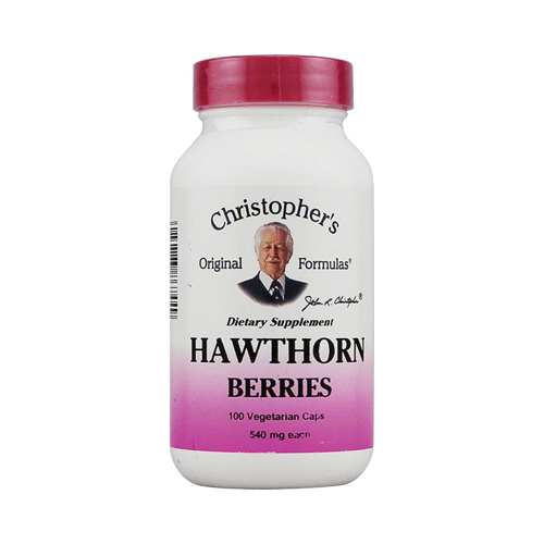 Dr. Christopher's Hawthorn Berries - 540 mg - 100 Vegetarian Capsules
