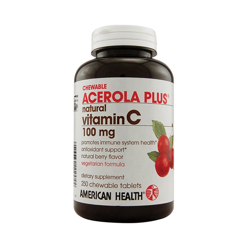American Health Acerola Plus Natural Vitamin C Chewable Berry - 100 mg - 250 Chewables