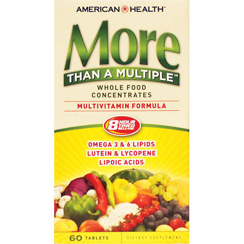 American Health More Than A Multiple Multivitamin Formula - 60 Tablets