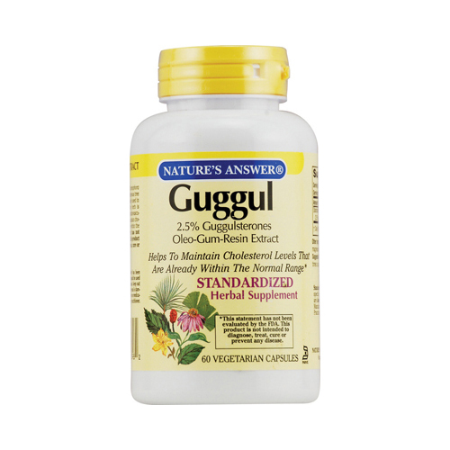 Nature's Answer Guggul - 60 Vegetarian Capsules
