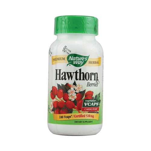 Nature's Way Hawthorn Berries - 510 mg - 100 Vcaps