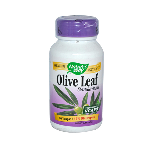 Nature's Way Olive Leaf Standardized 12% Oleuropein - 60 Vegetarian Capsules