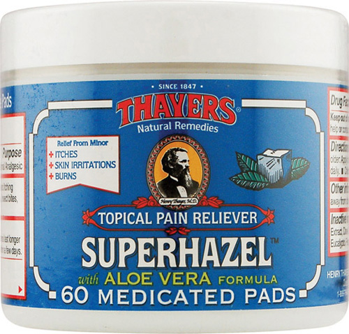 Thayers Astringent Pads - Medicated Witch Hazel - 60 Pads