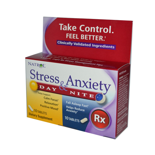 Natrol Stress Anxiety Day and Nite Formula - 20 Tablets