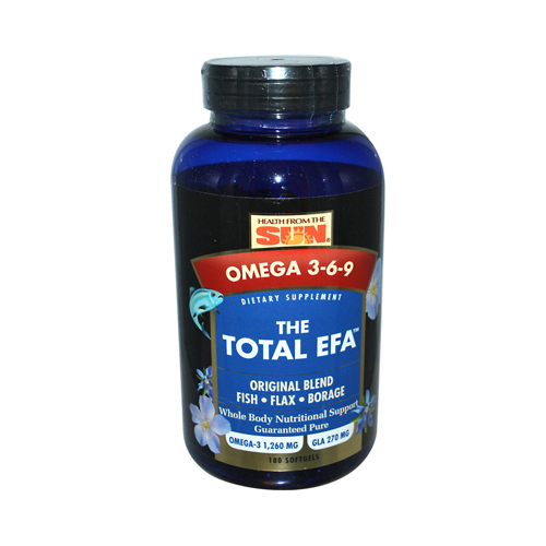 Health From the Sun The Total EFA Omega 3-6-9 - 180 Softgels
