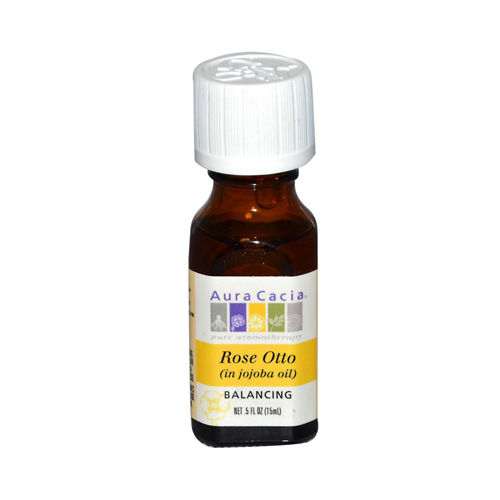 Aura Cacia Rose Otto in Jojoba Oil - 0.5 fl oz