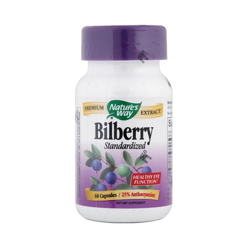 Nature's Way Bilberry Standardized - 60 Capsules