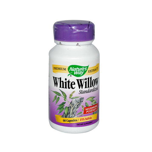 Nature's Way White Willow Bark - 300 mg - 60 Capsules