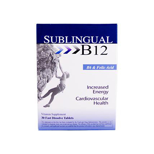 Heaven Sent Sublingual B12 with B6 and Folic Acid - 30 Tablets
