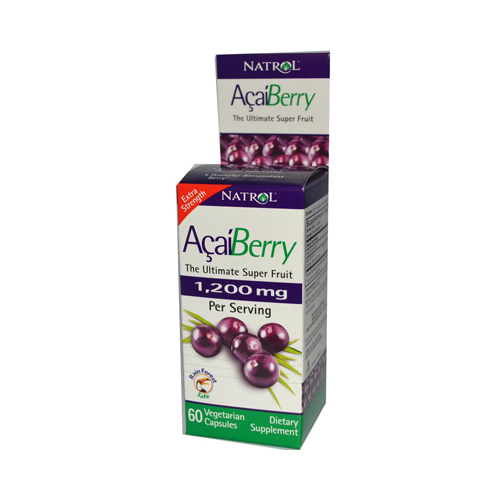 Natrol AcaiBerry Extra Strength - 1200 mg - 60 Vegetarian Capsules