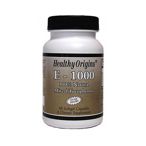 Healthy Origins E-1000 - 1000 IU - 60 Softgels