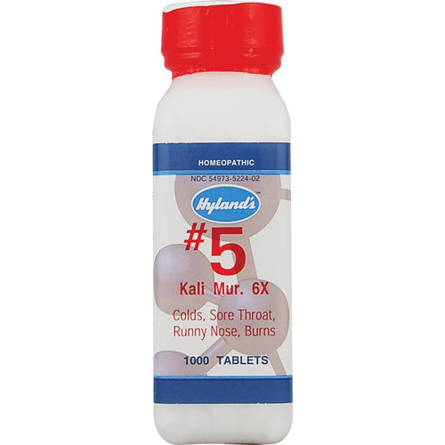Hylands Homeopathic Number 5 Kali Muriaticum 6X - 1000 Tablets