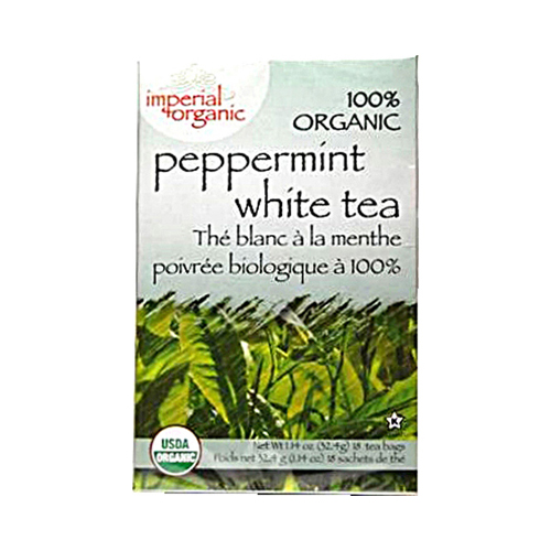 Uncle Lee's Imperial Organic Peppermint White Tea - 18 Tea Bags