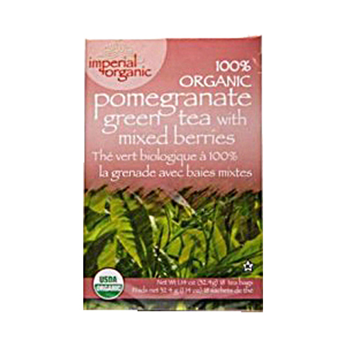 Uncle Lee's Imperial Organic Pomegranate Green Tea with Mixed Berries - 18 Tea Bags