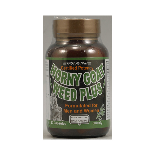 Only Natural Horny Goat Weed Plus - 500 mg - 60 Capsules